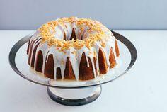 Citrus Pound Cake with Candied Orange Peel