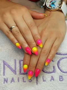 by Klaudia Demkiewicz Indigo Young Team - Follow us on Pinterest. Find more inspiration at www.indigo-nails.com #nailart #nails #indigo #ombre #yellow