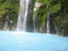 Dua Warna Water fall/lake near Karo - North Sumatera