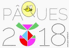 paques 2018 date imprimer coloriage de mots en pointilles dessin de tangram en forme d'oeuf de Pâques