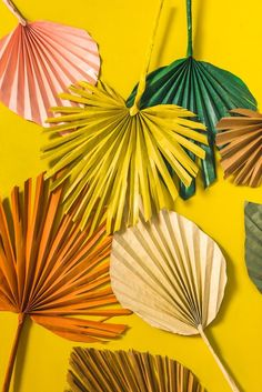 Paper palm leaves for Palm Sunday 🍃 Diy Paper, Paper Art, Paper Crafts, Paper Leaves, Paper Flowers, Paper Palm Tree, Deco Jungle, Little Green Notebook, Deco Boheme