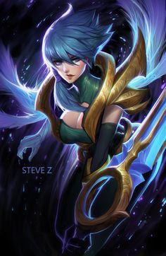 ArtStation - Dawnbringer Riven, Steve Zheng