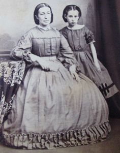 CDV Photo Victorian Lady Girl Civil War Era Woman Seated Hoop Skirt Dress with Yoked bodice | eBay