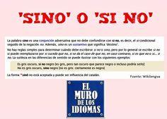 """Reglas para usar """"sino"""" y """"si no"""" #español #language #idioma"""
