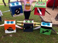 Kids birthday planes party. It would be fun to do something like this with fabric insteaad.