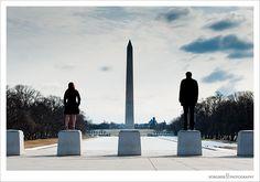 Wedding Photographer View of Washington Monument