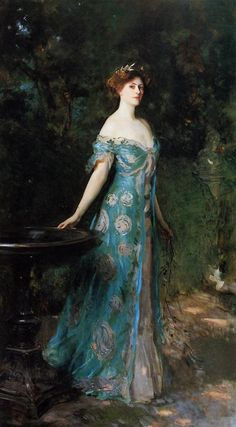 GISELLE | One of the historical dresses used as reference for Giselle's wardrobe. | Millicent Duchess of Sutherland by John SInger Sargent
