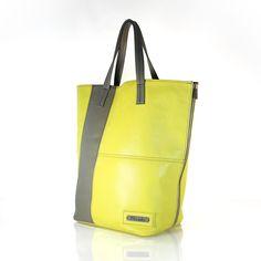 TWO TONE D'ELUX SHOPPER by PEcado Handbags - Citrus lamb leather with light grey detail - #fashion #style #accessories #designer #fashionblog #fashiondiaries #igfashion #instyle
