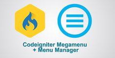 Codeigniter Megamenu and Menu Manager