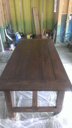 Easy DIY Dining Table | ... To Have An Empty Dining Room So I Can Have Revolving  Dining Tables | Recipes To Try This Week | Pinterest | Diy Dining Table, ...