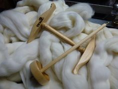 Bottom Whorl Drop Spindle with Mini Niddy by crystalcreekfibers, $39.00
