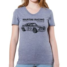 "1973 Martini Racing Porsche Graphic On Women'S ""Junior Size"" American Apparel T"