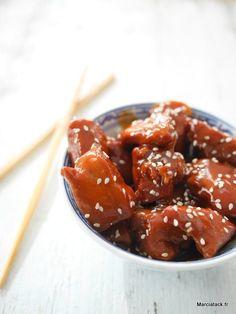 Poulet miel soja et graines de sésame Une recette vraiment simple à faire avec ce poulet sucré-salé