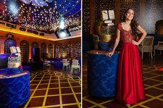 A festa de 15 anos de Letícia Kalaf teve A Bela e a Fera como tema. A decoração ficou por conta de Patricia Vaks e a V Rebel fez as fotos.