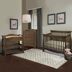 Storkcraft Venetian 3 Piece Nursery Set   Convertible Crib, Aspen Changing  Table And Avalon 5