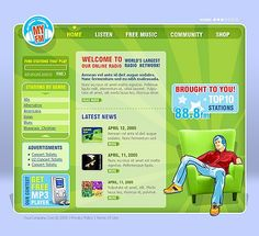 Radio Star Website Templates by Maxwell