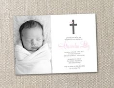 DIY Printable Baptism Invitation Bird on a Cross by totfulmemories, $15.00