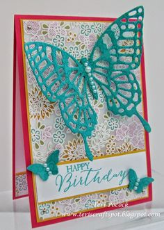 Stampin' Up! - Something Lacy With Butterflies Thinlits .... Teri Pocock - tp://teriscraftspot.blogspot.co.uk/2015/02/something-lacy-with-butterflies-thinlits.html