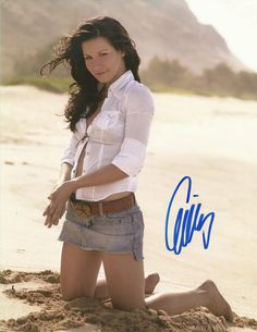 My Evangeline Lily signed pic