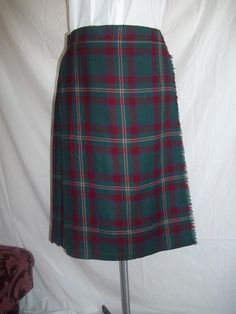 Vintage Scottish Women's Kilt Skirt