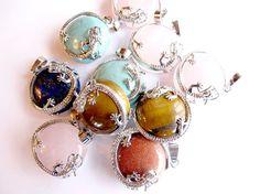 Dragon beads semi precious stones stone by APlusJewelryCrafts