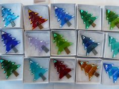 CHRISTMAS TREE fused glass by fusedglasscouk on Etsy