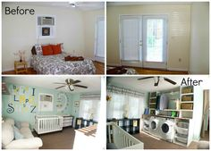 Before and After: Nursery + Laundry