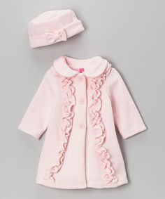 Look at this Good Lad Pink Ruffle Coat & Hat - Infant & Toddler on #zulily today!