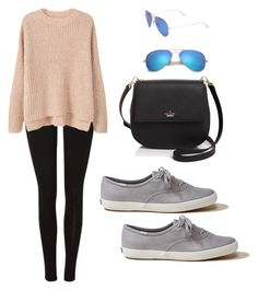 """""""Friday car"""" by lexxoxoxo on Polyvore featuring MANGO, Hollister Co., Kate Spade and Ray-Ban"""