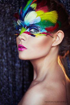 VENICE BEAUTY MAKE UP Bird Makeup, Animal Makeup, Makeup Art, Parrot Costume, Bird Costume, Halloween Makeup, Halloween Costumes, Jungle Costume, Eyeliner Shapes