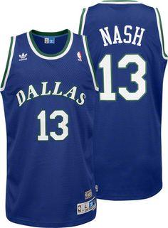 Steve Nash Dallas Mavericks Adidas Throwback Blue Swingman Jersey