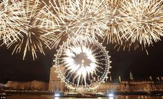 LONDON NEW YEAR 2012: The dazzling display lasted for around 15 minutes in the capital