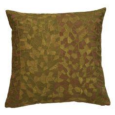 Mosaic Leaf Cotton Throw Pillow
