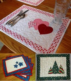 How to make reversible christmas placemats tutorial pinterest seasonal placemats set 1 fall placematsquilt placematschristmas placematschristmas craftsdiy solutioingenieria Choice Image
