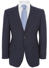 """Contemporary Fit Navy/Blue Stripe Jacket from """"Austin Reed"""", Grab irresistible discounts at Austin Reed using Discount & Voucher Codes."""