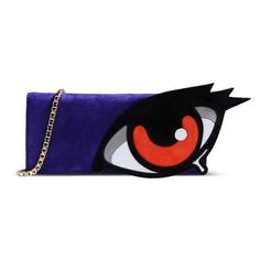 Pierre Hardy Purple Eye Applique© Clutch ($695) ❤ liked on Polyvore featuring bags, handbags, clutches, purple, blue purse, purple purse, pierre hardy handbags, purple clutches and blue handbags