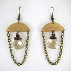 Goneva Earrings Champagne, now featured on Fab.