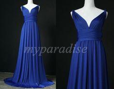 königsblau unendlich Hochzeit formales Kleid von MyParadise auf DaWanda.com