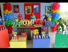 Hulk Birthday Parties, 7th Birthday, Festa Pj Masks, Avengers Birthday, Flash, My Little Baby, Superhero Party, Birthdays, Baby Shower