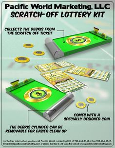 Scratch-Off Lottery Kit - PacificWorldMarketing.com - Products Available for Licensing