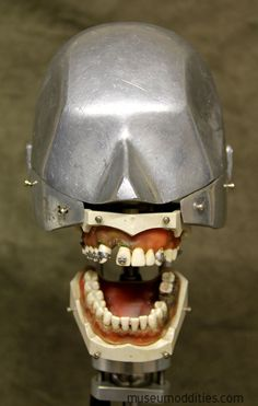 This is a Original Vintage Columbia Dentoform Dental Phantom head . The base is stainless steel and is adjustable to tilt in all directions. Teeth /gums are metal along with the head. These vintage ones are really hard to come by these days. Teeth are acrylic and gums are rubber. Industrial Metal, Tilt, Columbia, Dental, Steampunk, Masks, Witch, Weird, Horror