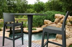 RIVA Bar Table & JAMAICA Bar Stool: In the arms of nature… [Siesta Exclusive | Rattan Collection | RIVA 888 Bar Table]