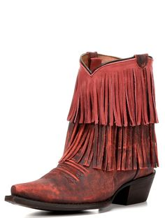 RED PEPPER FRINGE BOOT - Junk GYpSy co.