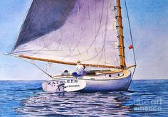 Cape Cod Catboat Painting  - Cape Cod Catboat Fine Art Print
