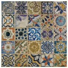 Avila Arenal Decor 12-1/2 in. x 12-1/2 in. Ceramic Floor and Wall Tile-FPM12ARD at The Home Depot