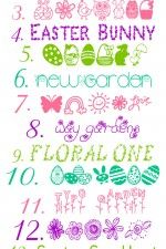 Favorite FREE Easter and Spring Fonts and Graphics on { lilluna