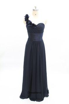 BlaCK Bridesmaid Dress  Oneshoulder Bridesmaid Dress by DressTrend, $99.99