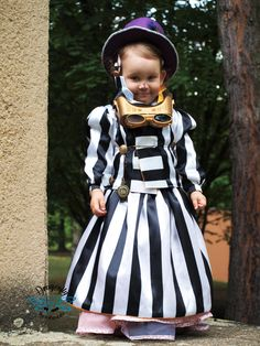 My doughter´s steampunk costume.