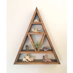 Triangle Shelf - Crystal Shelf - Shadow Box - Wood Shelf - Floating Shelf - Wall Shelf - V Shelf Wooden Triangle - Crystal Altar sold by A RAE HANDCRAFTS. Shop more products from A RAE HANDCRAFTS on Storenvy, the home of independent small businesses all over the world.