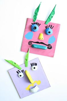 Silly Monster Collage Art-Gather recycled materials and get creative with this process art activity for kids
